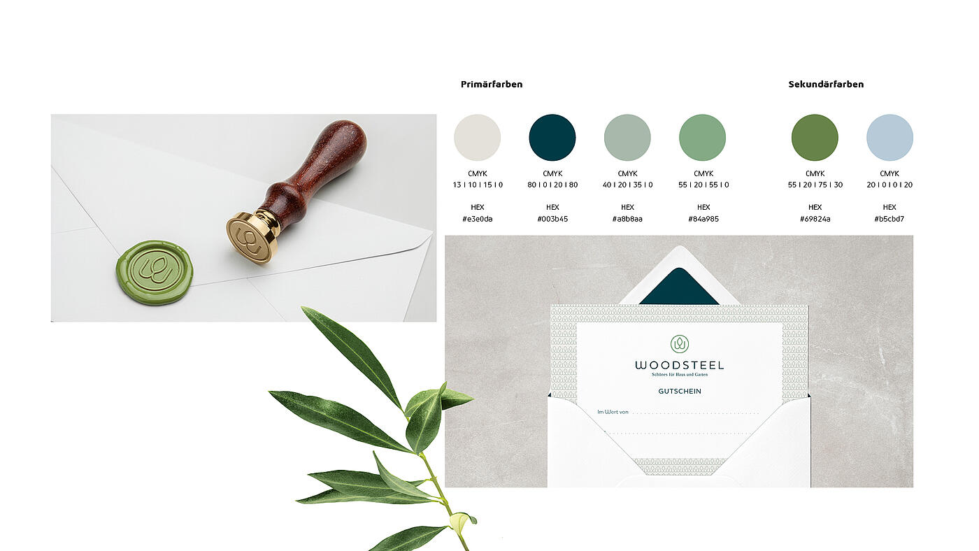 WOODSTEEL Anwendungsbeispiele Branding – Corporate Design